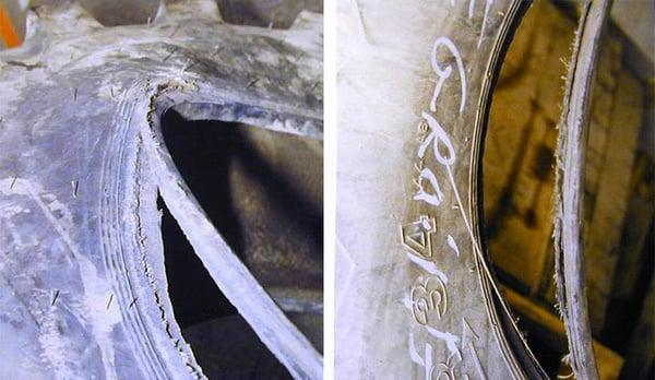 Désolidarisation de la tringle du pneu