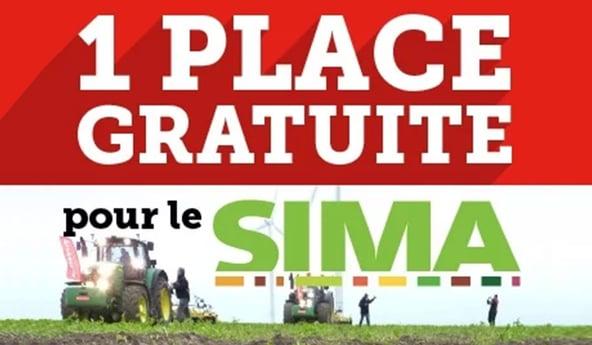 SIMA 2017 place gratuite