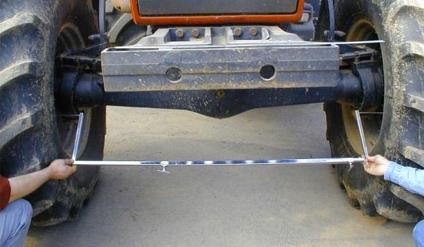 pneu agraire mesurer le parallélisme