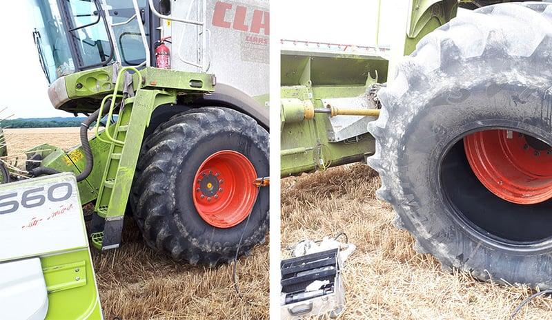 Démontage du pneu et détalonneur pneumatique
