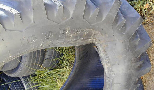 Rupture de tringle pneu de tracteur